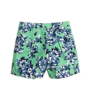 J Crew Tap Short in Floral Photo High Rise Flat Fr